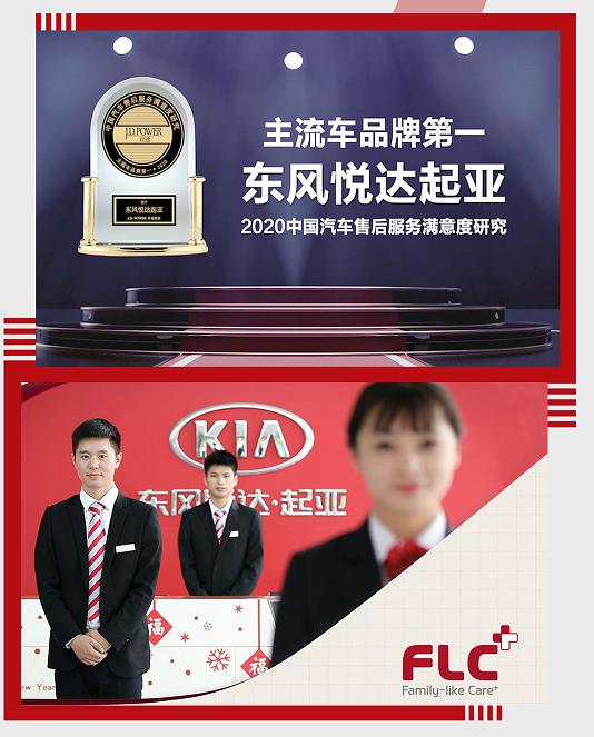 再夺冠,东风悦达起亚荣获J.DPower售后满意度主流车品牌第一